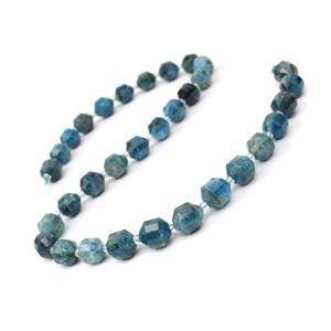200cts Apatite Fancy Faceted Beads Approx 10x9mm, 38cm Strand