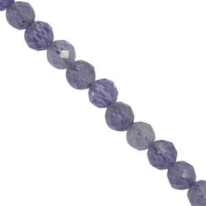 33cts Tanzanite Faceted Round Approx 3mm 38cm Strand