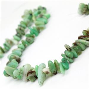 300cts Chrysoprase Long Chips Approx 4x9 - 6x20mm, 38cm Strand