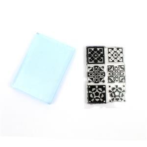 Polymer Clay Square Deal Texture Cube