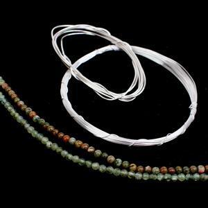 Silver Green Goddess; Apatite, Rhyolite, 0.4 & 0.8 Wire
