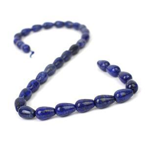 200cts Dyed Lapis Lazuli Drops Approx 12x8mm, 38cm Strand
