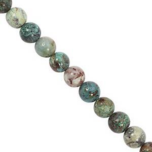 195cts Chrysocolla Smooth Round Approx 9.50 to 10.50mm, 28cm Strand