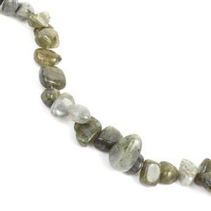 200cts Labradorite Fancy Nuggets Approx 7x8 - 9x15mm, 38cm Strand