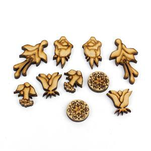 MDF Mini Floral Earring Collection 5pairs