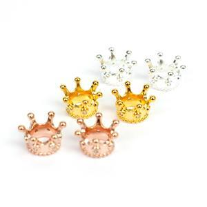 925 Sterling Silver Crown Spacers, Inc; Gold & Rose Gold Plated.