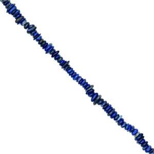 330cts Lapis Lazuli Center Drilled Fancy Slices Approx 3x11mm, 38cm