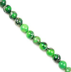 200cts Malachite Green Variscite Plain Rounds Approx 10mm 38cm
