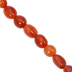 120cts Carnelian Smooth Nugget Approx 6x5 to 14x9mm, 38cm Strand