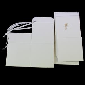 Powder White Cube & Heart Sleeve With Cord 80x80mm 5pk
