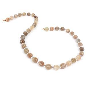120cts Sunstone Fancy Faceted Lantern Beads Approx 8x7mm, 38cm