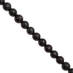 45cts Shungite Smooth Round Approx 6 to 6.50mm, 20cm Strand