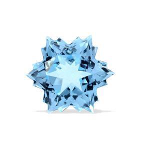 5.3cts Sky Blue Topaz 10x10mm Snowflake  (I)