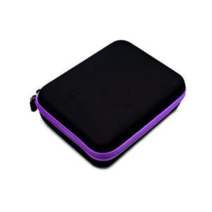 Bead Storage Carry Case with 30 pots 22x17.5x7cm - Black with Purple Trim