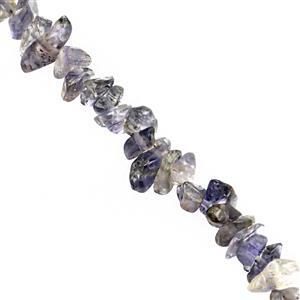 110cts Iolite Bead Nugget Approx 3x2 to 7x3mm, 80cm inch Strand