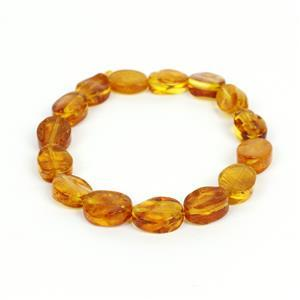Baltic Amber Ovals Approx. 12x8-17x2mm, 20cm Strand