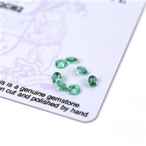 0.55cts Zambian Emerald 3x3mm Round Pack of 7 (O)