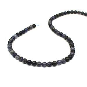80cts Iolite plain Rounds Approx 6mm, 38cm Strand