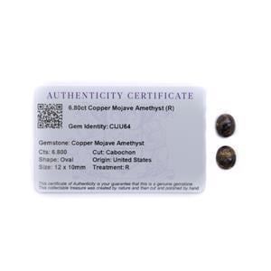 6.8cts Copper Mojave Amethyst 12x10mm Oval Pack of 2 (R)