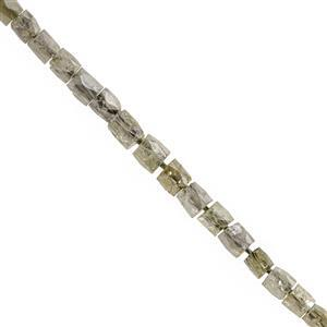 1.75cts Natural Diamond Faceted Pipe Approx 1.3x1.2 to 2.1x2.2mm, 5cm Strand