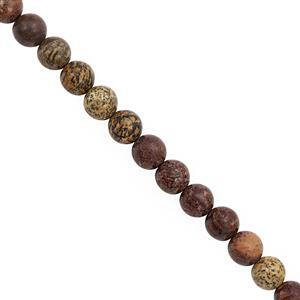 135 cts Artistic Jasper Smooth Round Approx 8mm, 30cm Strand