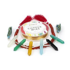 Get The Point; 66cts Multi-Colour Onyx Faceted Double Pointers Pencils, Red Onyx 6mm, Wire