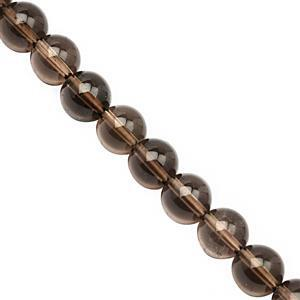 95cts Smokey Quartz Smooth Round Approx 8 to 8.50mm, 20cm Strand