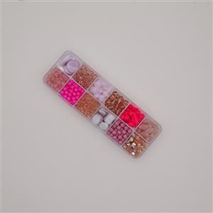 Preciosa Pressed Bead Box - Pink Mix