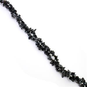 300cts Snowflake Obsidian Small Nuggets Chips Approx 4x5 to 6x12mm, 33