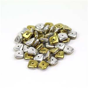Preciosa Ornela Caifornia Silver Slab Beads, 8mm (50pcs)