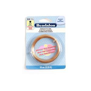 Beadalon Copper German Style Round Wire, 22 Gauge/0.64mm, 32.8ft/10m