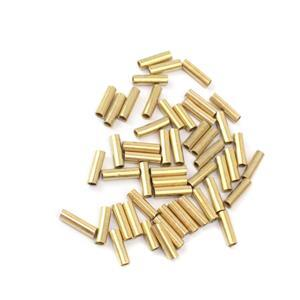 Artistic Wire Large Wire Crimp Tubes, Brass Color, for 12 ga wire