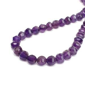 140cts Amethyst Pumpkin Style Faceted Rounds Approx 8mm, 38cm