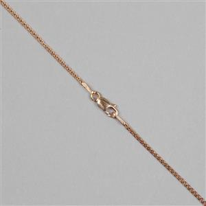 Rose Gold Plated Sterling Silver Spiga Chain with 1.2mm Link, 51cm/20