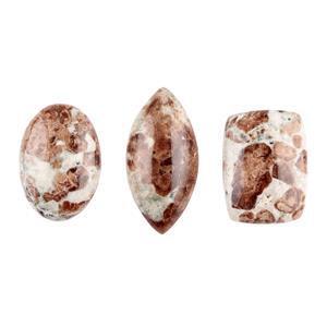 60cts Garnet in Limestone Multi Shapes Cabochons Assortment.