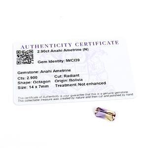 2.9cts Anahi Ametrine 14x7mm Octagon  (N)