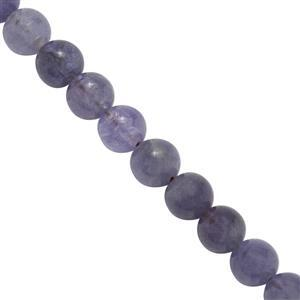 50cts Tanzanite Smooth Rounds Approx 4.5x4.5mm, 20Cms Strand
