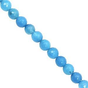 95cts Blue Chalcedony Faceted Round Approx 7.50 to 8mm, 21cm Strand