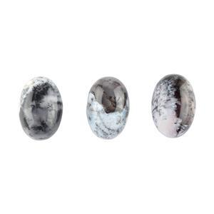 10cts Dendrite Agate Oval Cabochons Approx 13x9mm. (Pack of 3)