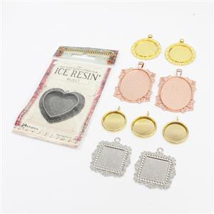 Pendant Bezel Collection! Inc; Squares, Ovals, Rounds & Heart.