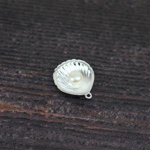 925 Sterling Silver 3D Seashell Pendant,Approx. 20x17mm,1PCS