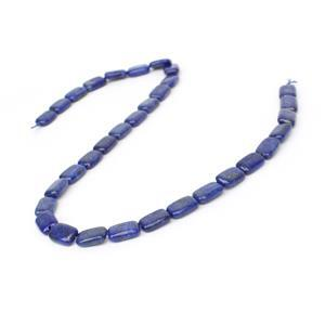 120cts Dyed Lapis Lazuli Puffy Rectangles Approx 12x8mm, 38cm Strand
