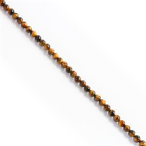 80cts Yellow Tigers Eye Plain Rounds Approx 6mm, 38cm strand