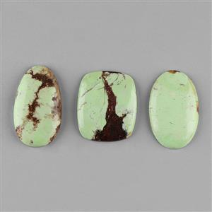 185cts Lemon Chrysoprase Multi Shape Cabochons Assortment.
