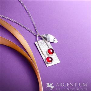 935 Argentium Silver & Cherries Pendant Kit