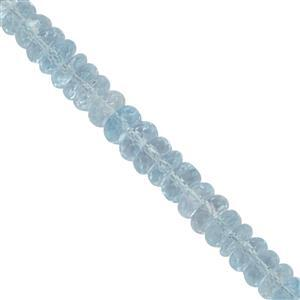 60cts Sky Blue Topaz Graduated Faceted Rondelles Approx 4x1.5 to 5.50x1.50mm, 20cm Strand