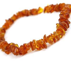 Baltic Cognac Amber Centre Drilled Chips, Approx. from 5mm to 9x7mm (20cm Strand)