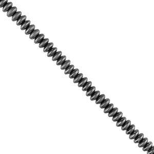 135cts Grey Colour Coated Haematite Plain Matte Finished Saucers Approx 6x3mm, 28cm Strand.