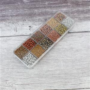 Preciosa Ornela Rocialles Gift Box - 9/0 & 6/0 Soft Bronze Mix