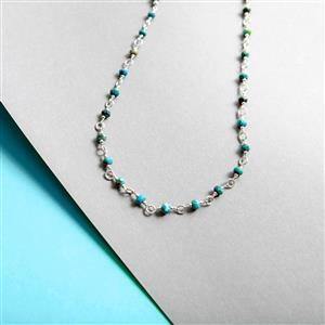 25cts Sleeping Beauty Turquoise Graduated Faceted Rondelles Approx 2X1 to 5X2mm, 20cm Strand